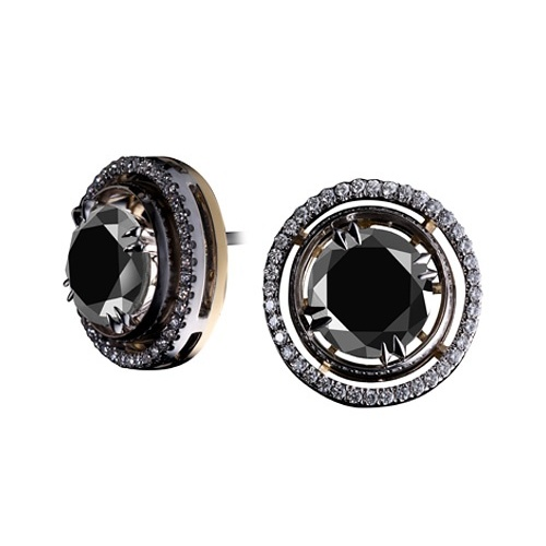 brilliant cut black diamond cufflinks