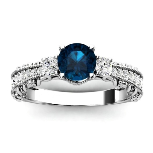 unique london blue topaz ring