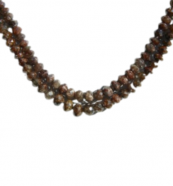 light brown faceted diamond beads necklace