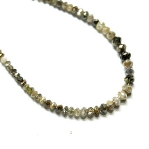 faceted light brown diamond beads strand