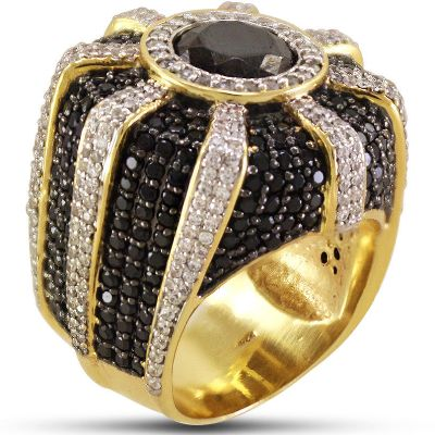 men's black diamond pinky ring