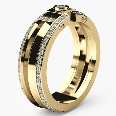 men's white diamonds wedding band