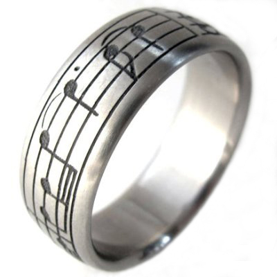 musical note wedding band