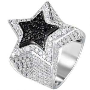 star design hip hop diamond ring