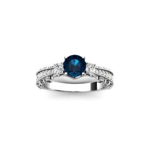 unique london blue topaz ring