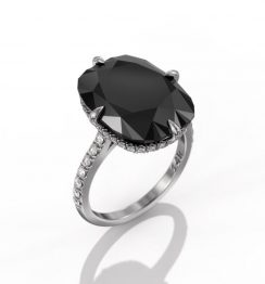 10 carat black diamond ring