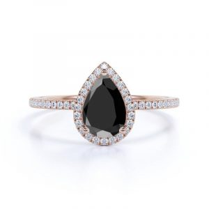 2ct rose gold pear cut ring