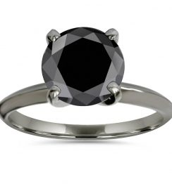 2ct black diamond black ring