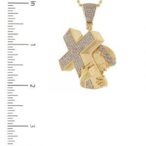 14k Yellow Gold Jesus Cross Pendant