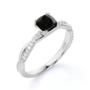 princess black diamond engagement ring (3)