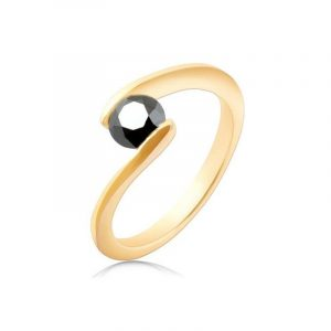 black diamond tension set ring