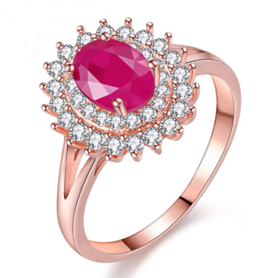 ruby diamond rose gold ring