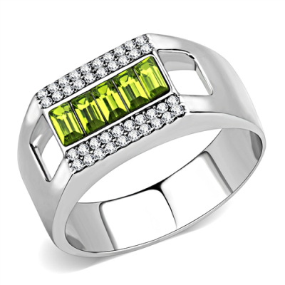 men's peridot rings