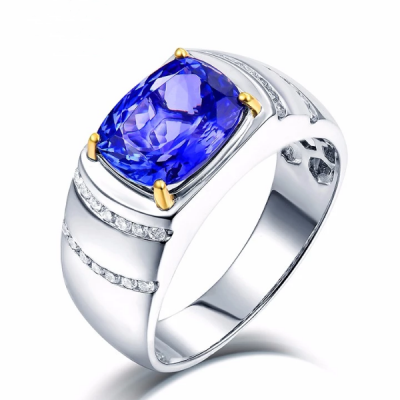 Men tanzanite ring