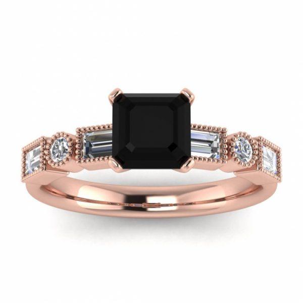princess black diamond ring