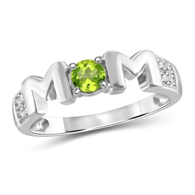 peridot mom ring
