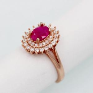 ruby diamond rose gold ring