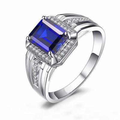 mens blue sapphire ring