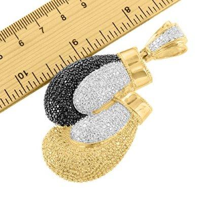 multi tone black yellow diamond knock out pendant