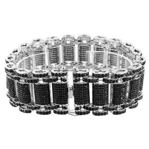black diamond hip hop bracelet