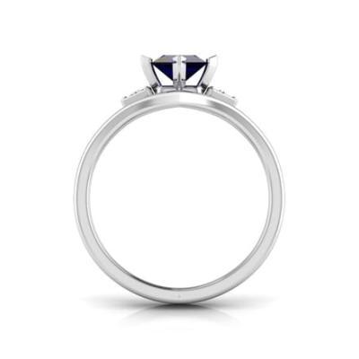 princess sapphire ring