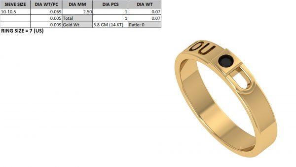 key and lock diamond ring