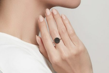 engagement ring black diamond
