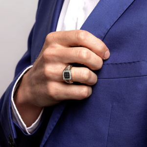 men diamond ring