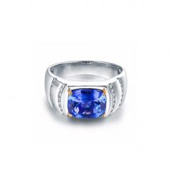 Men tanzanite ring