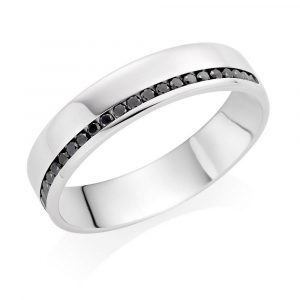 0.20ct black diamond male wedding ring