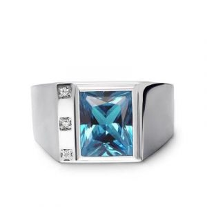 men's topaz ring