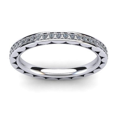 slim diamond eternity ring