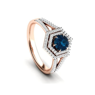 double halo topaz engagement ring