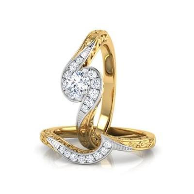 spiral bridal ring set