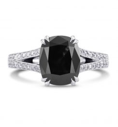 2 carat black diamond ring
