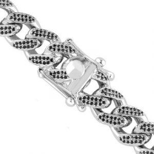 Black diamonds cuban link chain