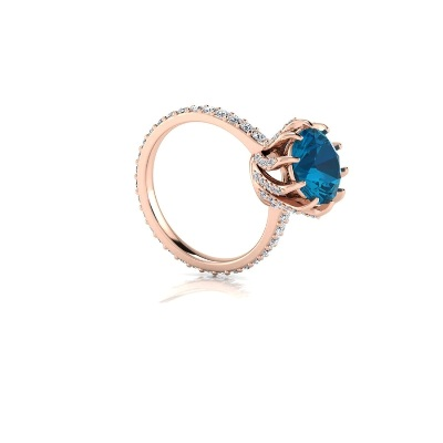 unique blue topaz engagement ring