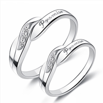 couple simple promise rings