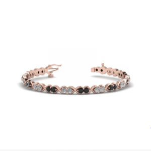 rose gold tennis diamond bracelet