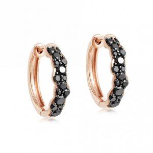 black diamond hoop earrings (2)
