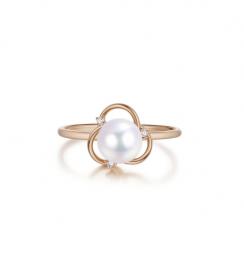 diamond pearl ring