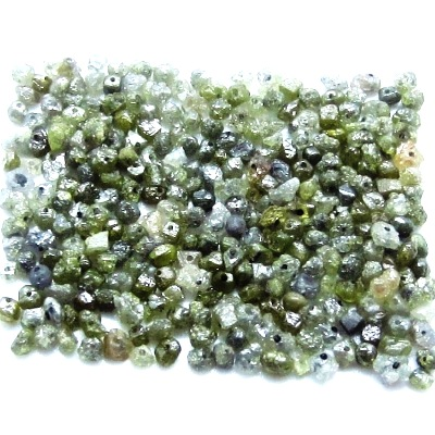 greenish yellow uncut beads