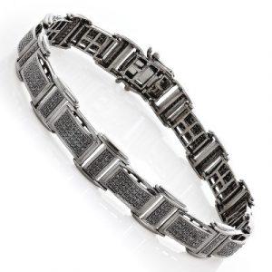men's black diamond bracelet