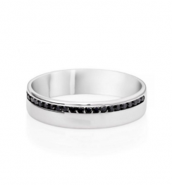 black diamond male wedding ring