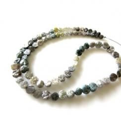 natural uncut rough diamond beads