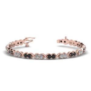 rose gold tennis diamond bracelet