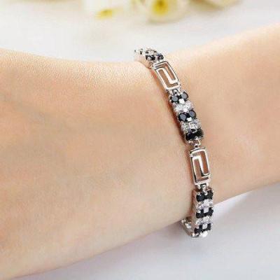 black diamond classic tennis bracelet