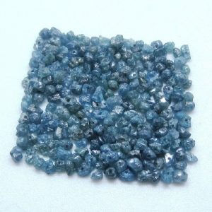 uncut blue diamond beads