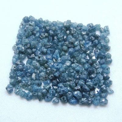 uncut blue diamond beads