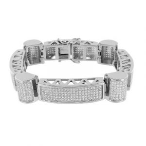 Mens white gold bracelet